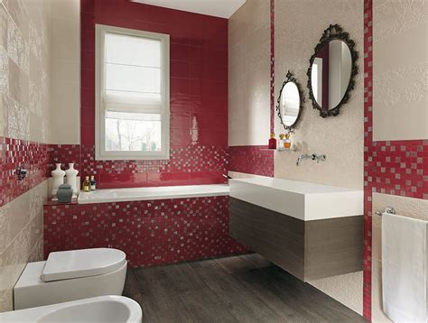 red bathroom red cream bathroom design interior design ideas
