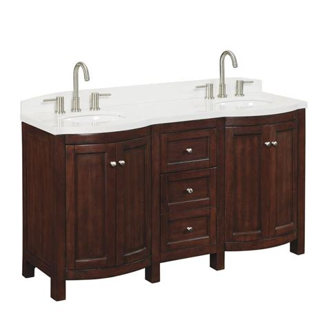 cabinet tops at lowes shop allen roth 60 in sable moravia double sink bathroom