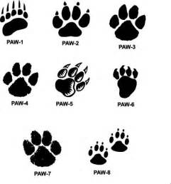cougar paw print cliparts