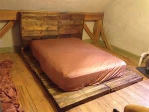 Pallet Platform Bed Diy Diy Pallet Platform Bed With Headboard Pallet Furniture Diy