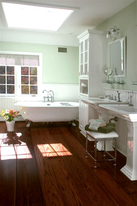 hardwood in bathroom i love wood floors in bathrooms for the home pinterest