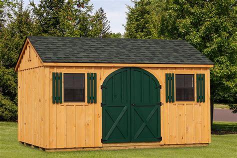 standard board batten  frame shed lancaster county barns