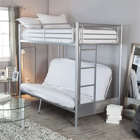bunk bed with sofa under total fab metal wood loft beds with sofa underneath