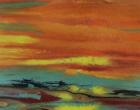daily painters abstract gallery abstract landscape sunset