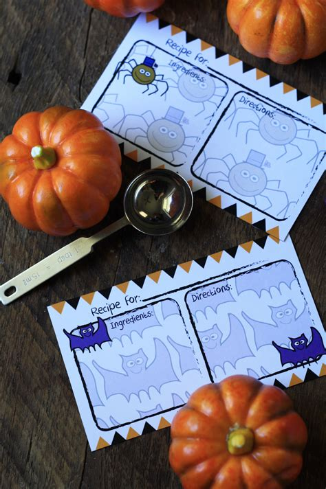 printable halloween recipes free printable halloween recipe card cooking up cottage