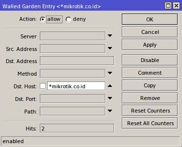 Tutorial Walled Garden Di Mikrotik Brain Learn Know Share Mikrotik Walled Garden