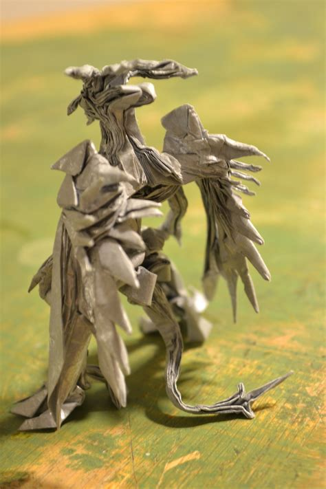 Bahamut Origami - origami bahamut back view by timsorigami on deviantart