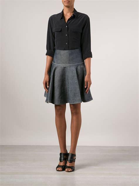 Rok Overall Flare Skirt Denim lyst rag bone flared denim skirt in blue