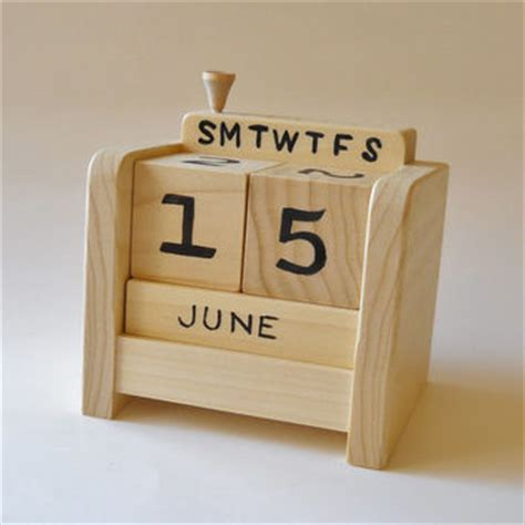 Calendar Blocks Best Wooden Calendar Blocks Products On Wanelo