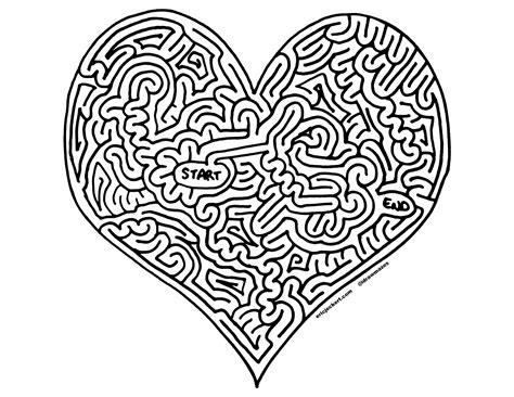 printable heart maze mazes 187 happy valentines day by eric j eckert