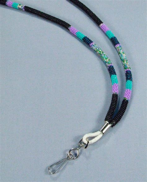 how to make a beaded lanyard beaded lanyard 36 inch by wapazo on etsy