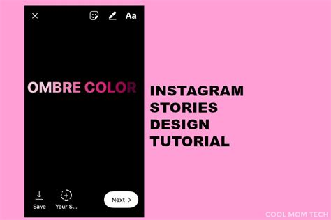 design font instagram how to make ombre text overlays instagram stories design
