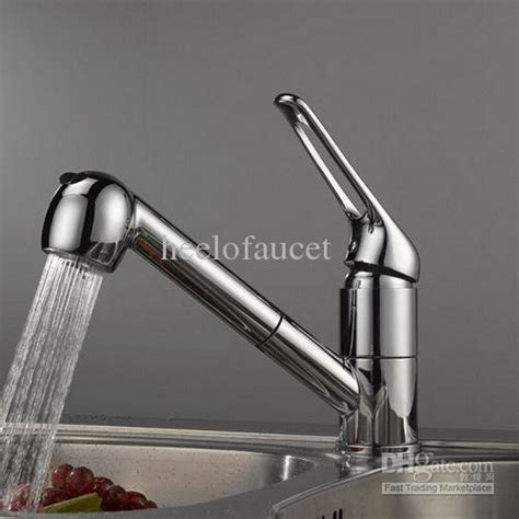 Kitchen Faucet Weight 2017 Brass Pull Out Kitchen Sink Faucet With Longer Handle Be6618 From Heelofaucet 45 49