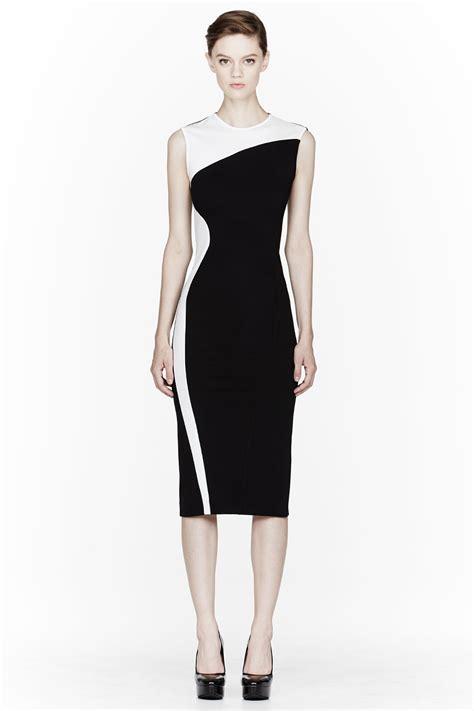 I Jersey Dresses by Lyst Stella Mccartney Black Compact Jersey Dress In Black
