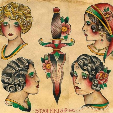 tattoo flash gypsy 94 best images about old school tattoo flash on pinterest