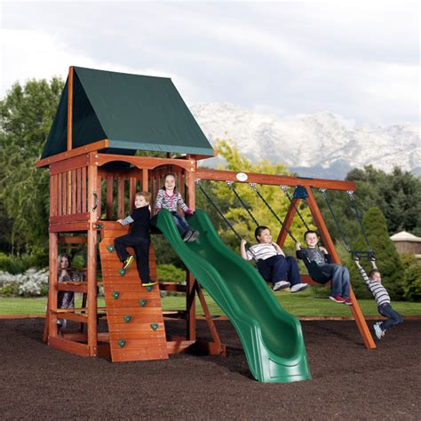acadia play set by backyard adventures family leisure
