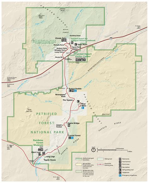 arizona national forest map petrified forest maps npmaps just free maps period