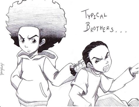 typical brothers by the boondocks crew on deviantart