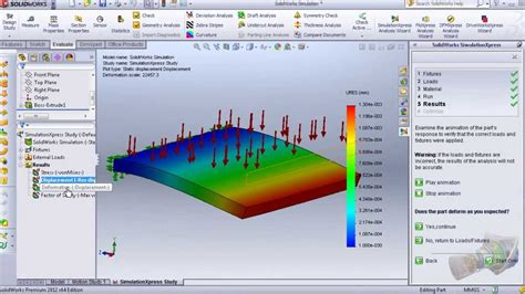 tutorial solidworks flow simulation 2011 7 solidworks simulation tutorial previous exle tut 1 5