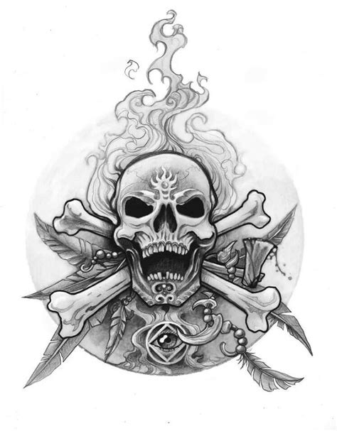 skull and crossbones tattoo designs skull crossbones drawings and chicano