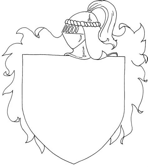 coloring page of a knight s shield shield coloring page coloring home