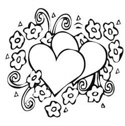 coloring pages hearts and flower coloring pages flower coloring page