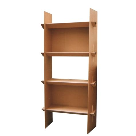 cardboard shelf bookcase quart de poil