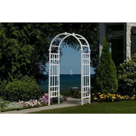 Arbor Home Depot by New Arbors Athens 81 In X 36 In White Vinyl