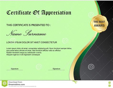 graphic design certificate virginia plantilla verde del premio del certificado del diploma