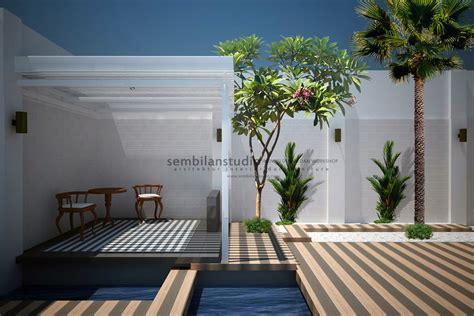 desain tempat majalah desain gazebo minimalis di taman belakang sembilanstudio