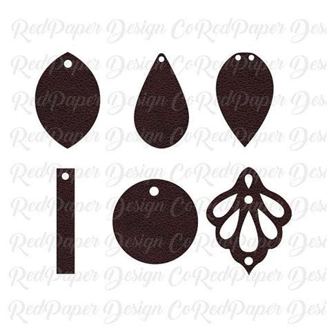 Earring Card Template Silhouette by Earrings Svg Leather Earrings Bundle Teardrop Earring