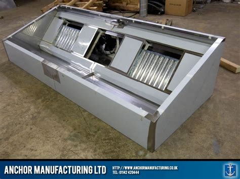 stainless steel desk fan bespoke kitchen canopy with integrated extraction fan unit