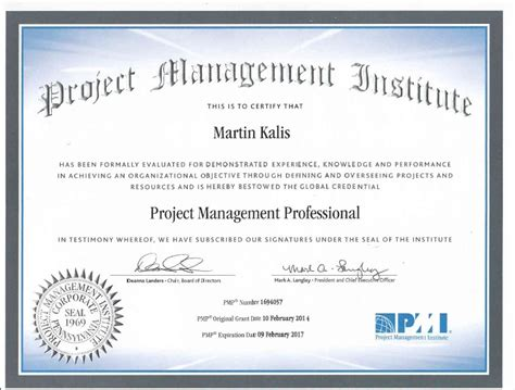 Pm Certificate And Mba by Pmp Project Management Professional Martin Kalis