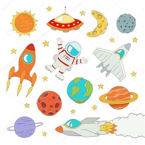 imagenes figurativas elementos conjunto de elementos lindo espacio astronautas planetas