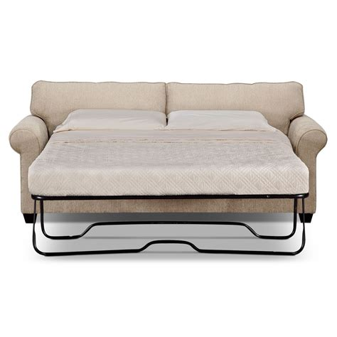 Fletcher Queen Memory Foam Sleeper Sofa Beige American Foam Sleeper Sofa