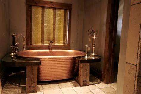 Reclaimed Bathtubs by 20 Rustic Bathroom Designs With Copper Bathtub