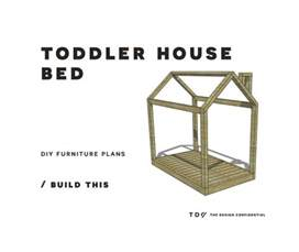 free diy furniture plans how to build a toddler house bed the design confidential
