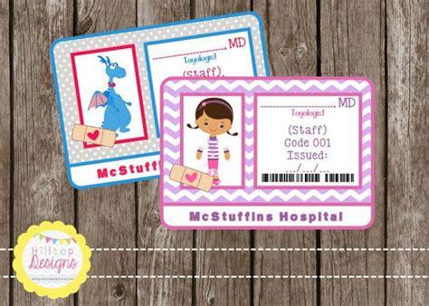 doc mcstuffins printable name tags printable doc mcstuffins doctor badge for by