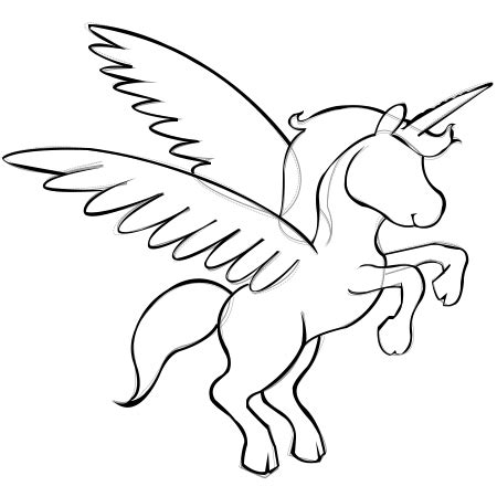 Unicorn Outline by Unicorn Outline Pictures To Pin On Pinsdaddy