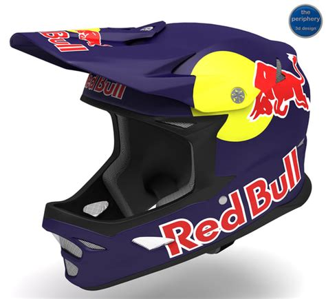 motocross red bull helmet 3d model of old helmet