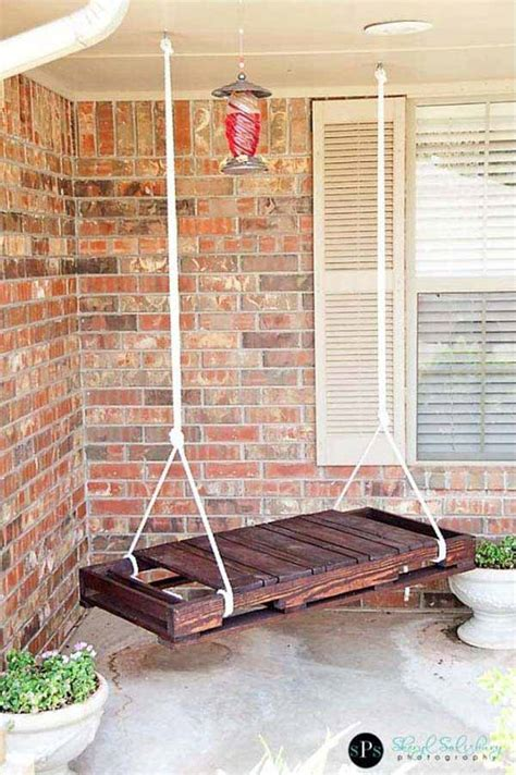 homemade porch swing 22 amazingly diy patio and garden swings amazing diy