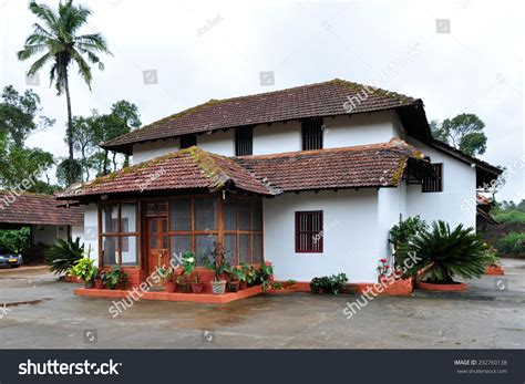 home design sles for india traditional kerala style house coorg karnataka stock photo