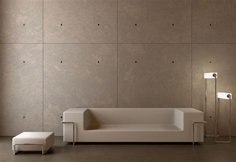 interior concrete walls introducing natural lightweight stone veneer