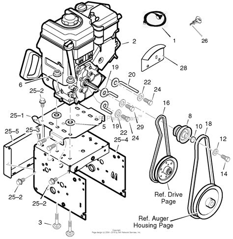 craftsman snowblower parts diagram murray 536 889252 craftsman dual stage snow thrower