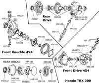atv bearings seals gears differentail diagram