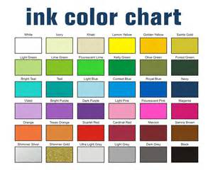 screen printing ink color chart
