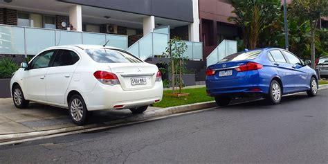 Sparepart Honda Vs Mitsubishi honda city v mitsubishi mirage sedan comparison review photos 1 of 35