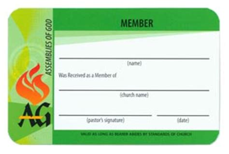 free church membership card template church membership identification cards my healthy church 174