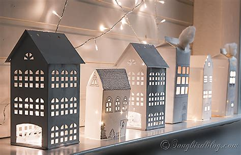 House With Paper - paper houses mantel