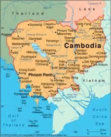 Cambodia World Map by Cambodia